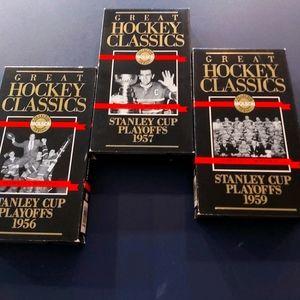 Cassette vidéo hockey classique 1956 -1957 -1959